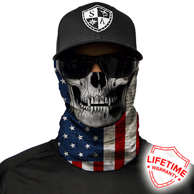 American Flag Skull Face Shield von SA Company