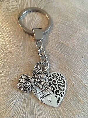 Mother and Daughter Forever Key Ring - Mum or Daughter Gift - Angel and Heart