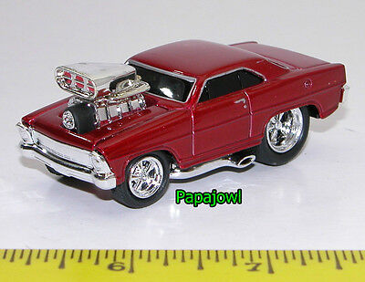 Muscle Machines 1967 1966 Chevrolet Nova 67 66 Chevy Drag Racing 1:64 Scale