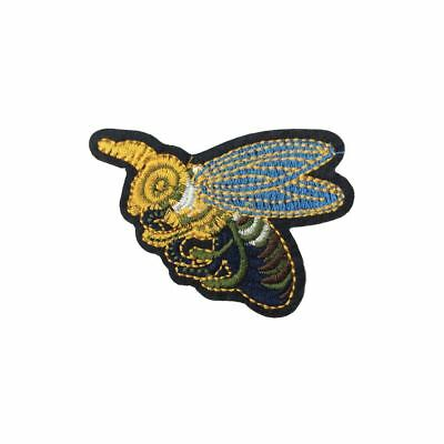 Side Bee / Wasp (Iron On) Embroidery Applique Patch Sew Iron Badge