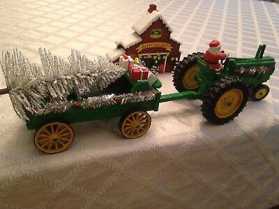 John Deere Tractor, wagon and barn from Bradford Exchange, Hawthorne Division