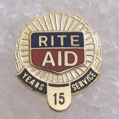 Rite Aid Drugstore Company 15 Year Employee Service Award Pin