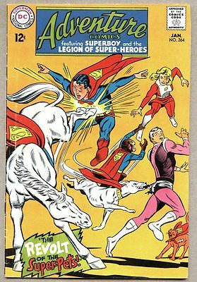 Adventure Comics #364-1968 vg+ Superboy Legion Of Super-Heroes
