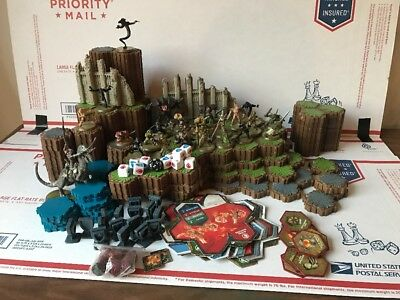 Heroscape Lot Terrain Grass Rock Sand Water Dice Figures Cards 25 Figures Lot!