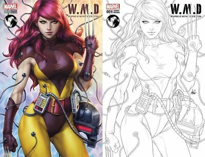 Weapons Mutant Destruction #1 Artgerm Color Sketch Variant Set Nm Mary Jane X23