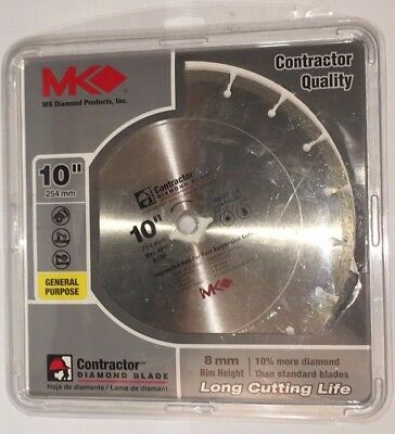 "MK Diamond 167017, 10"" Contractor Quality Segmented Diamond Saw Blade"