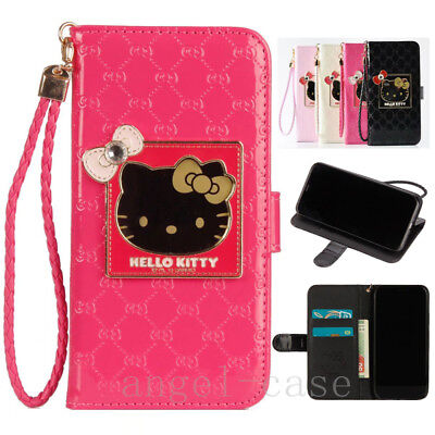 af5337d44 Cute Hello Kitty Handbag Strap Leather Wallet Case Cover for iPhone XS Max  7 8+