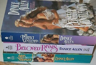 Lot Of 3 Danice Allen New Mint Condition Historical Romance Books