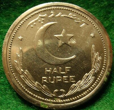 Scarce 1948 HALF-RUPEE PAKISTAN, PROOF  Very rare coin