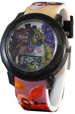 Five Nights at Freddy's Light up Strap & Dial LCD Kids Watch FNAF -NEW-
