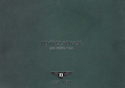 Bentley Arnage 2007 Model Year Sales Brochure With Press Dvd High Res Images