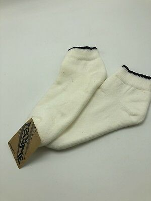 Activate Socks White Ankle Sports Vintage 1980s Terry Cloth Line NWT