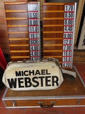 Vintage Bookmaker Tote Odds Boards And Bookies Bag