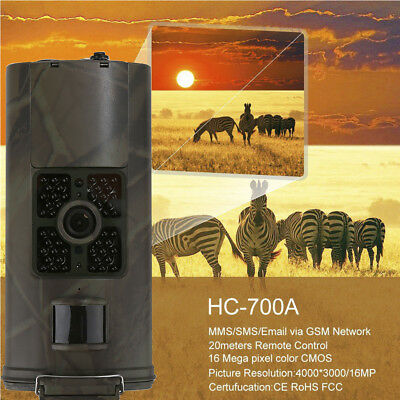 Hunting Camera 16MP 1080P Trail Cameras Trap 3G GPRS MMS SMS Wildlife Scout lot