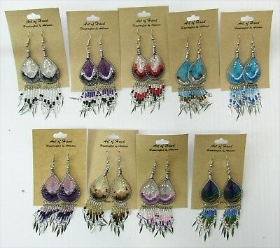 Wholesale Lot of 10 Dream Catcher Earrings with Dangles
