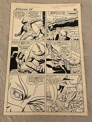 Tales to Astonish #55 Page 16 Original Art Dick Ayers action page Ant-Man + Wasp