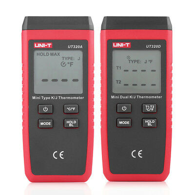 -50℃~1300℃ 1/2 Channel  K/J Type Digital LCD Thermocouple Thermometer Tester JS