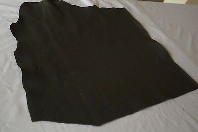 Grey cowhide piece/off-cut 50 x 50 cm corrected grain upholstery cow hide leathe