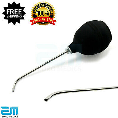 Chip Blowers Medical Water Syringes With Rubber Bulb Dental Filling Instruments