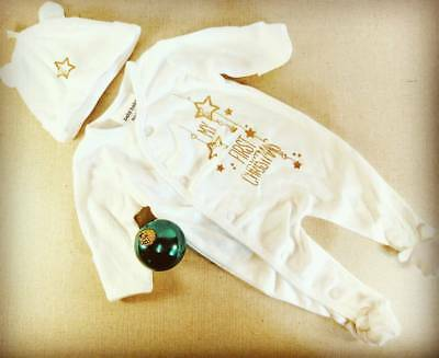 Premature baby tiny baby My First Christmas Suit Outfit Metallic reborn doll