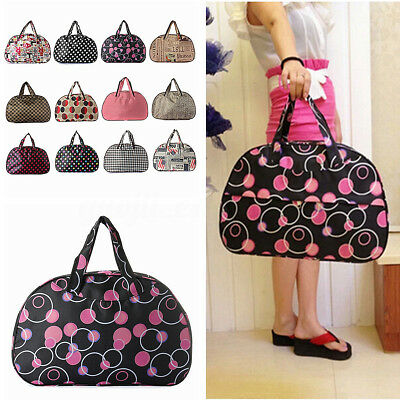 Hot Printed Duffle Bag Tote Overnight Gym Sport Travel Luggage Suitcase Holdall