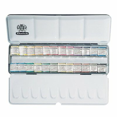 SCHMINCKE AKADEMIE® Aquarell Solid metal box with 24 half pans - 75424