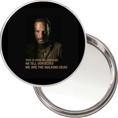 NEW Unique Handbag Mirror, Image of Rick Grimes Andrew Lincoln The Walking Dead
