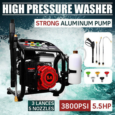NEW 5.5HP 3800 PSI High Pressure Petrol Water Washer Cleaner 5m Hose AU Stock