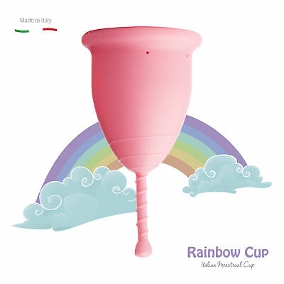 Coppetta Mestruale RAINBOWCUP MADE IN ITALY in Silicone Medicale