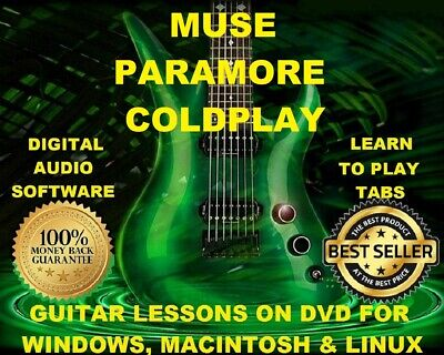 MUSE 279 & Coldplay 160 Guitar Tabs Software Lesson CD, 137 Backing ...