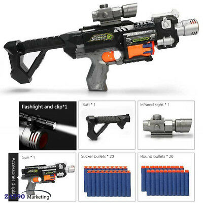 Cool Electric Assault Toy Rifle Gun Shooting Dart Soft Bullet - Perfect Gift