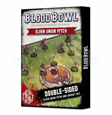 Blood Bowl - Elven Union Pitch and Dugouts Games Workshop Playmat Spielfeld