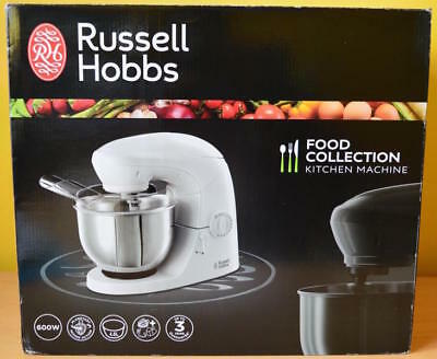 Russell Hobbs 21060 Food Collection Kitchen Machine Mixer, 4.8L in White - 600W