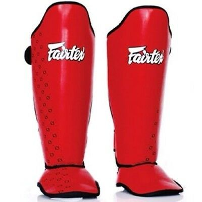 Fairtex SP5 Competition Shin Guards Red [Size: Large]