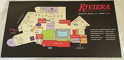 "☀RIVIERA CASINO Vintage Las Vegas 7.5 X 14"" FLOOR MAP Closed May 4 2015☀"