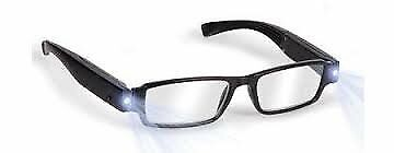 Black Reading Glasses with Mixed LED light Power +1.0 +1.5 +2.0 +2.5 +3.0