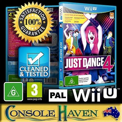 (Wii U Game) Just Dance 4 / IV / Four (G) (Music & Dancing) PAL, Guaranteed