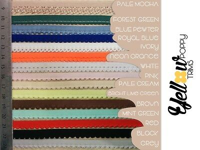 Pretty Various Colours Scallop Picot Edge Light Lingerie Elastic 5 or 10 Metres