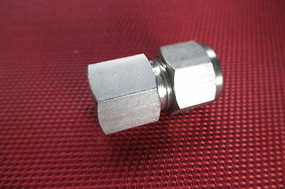 "Brennan® 1/2"" Tube x 3/8"" NPT Pipe FEMALE STRAIGHT CONNECTOR 316 Stainless Steel"