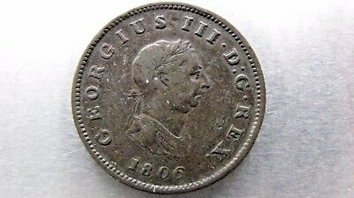 Bahamas Penny 1806 decent grade with minor marks.