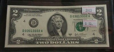 USA 2003 A Two Dollar Bill GEM UNC Very Nice High Grade Banknote