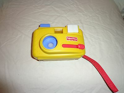 """1998 Fisher Price Click Button 5"""" Camera Zoo Animals Slideshow Toddler Toy"""