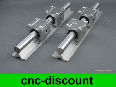 CNC Set 16x 650mm Linearführung Linear Guide Rail Stage 3D
