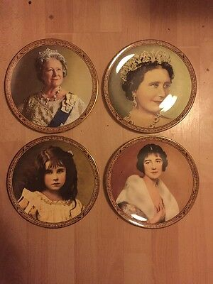 Royal Grafton Queen Mother Plates Elizabeth Bowes Duchess York Queen Consort