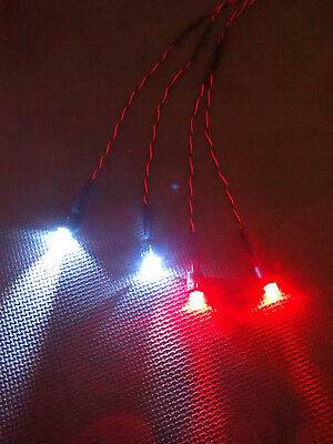RC Car Truck LED Light Kit Ultra Bright 10mm Head & Tail Lights Kyosho Traxxas