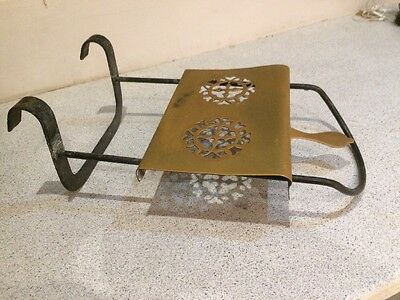 Antique Brass / Iron Range Kettle  Sliding Trivet