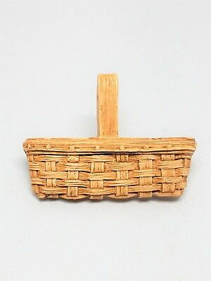 Unsigned Longaberger Resin Mini Basket Pin unsigned 1989