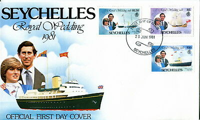 1981 Seychelles - Yachts. Royal Wedding of Prince Charles and Lady Diana. FDC