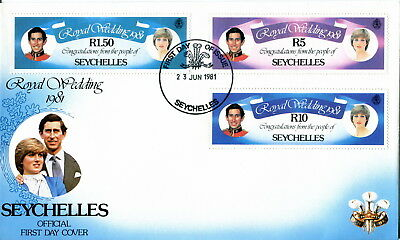 1981 Seychelles. Royal Wedding of Prince Charles and Lady Diana. First Day Cover