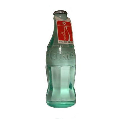 Coca Cola Bottle Bank Large Coin Saving Container Kids Adults Safety Money Jar